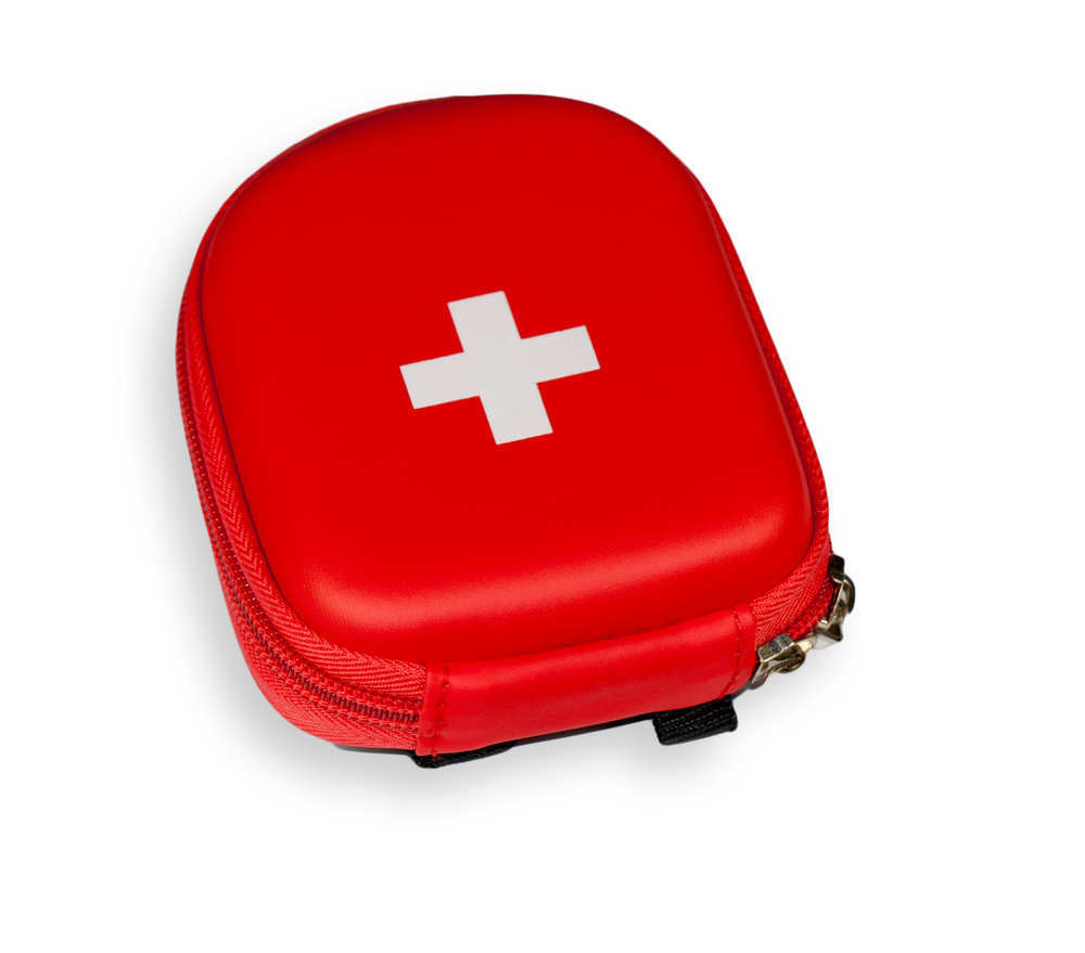 Botiquín de emergencias en la maleta